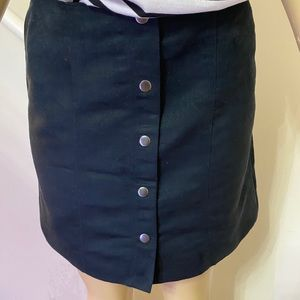 Suede Fall Skirt